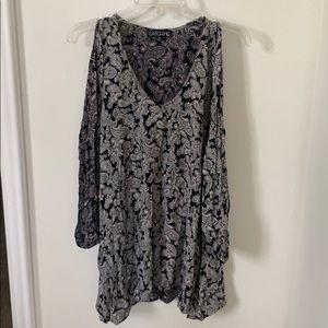 flowy long sleeve dress
